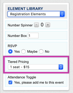 Tiered Pricing element